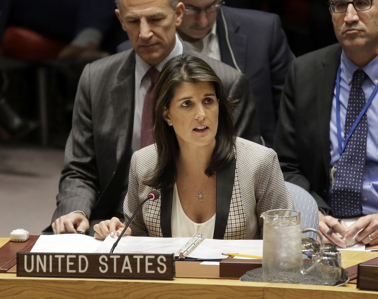 美國駐聯合國前大使海理推文批評總統川普。(美聯社)