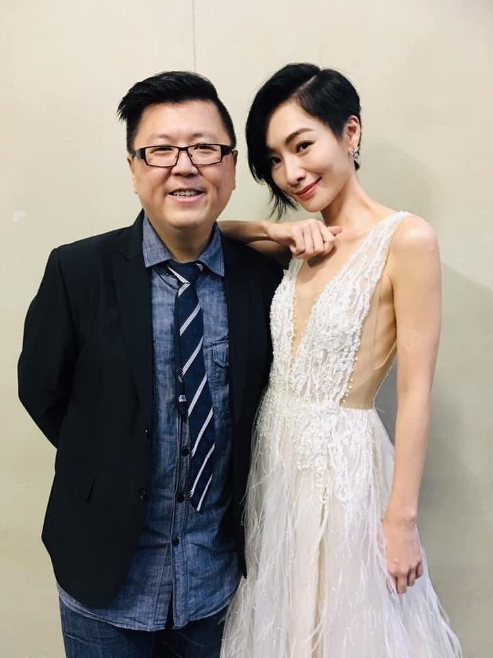 陽靚與「忘川」導演楊孟嘉。圖/摘自臉書