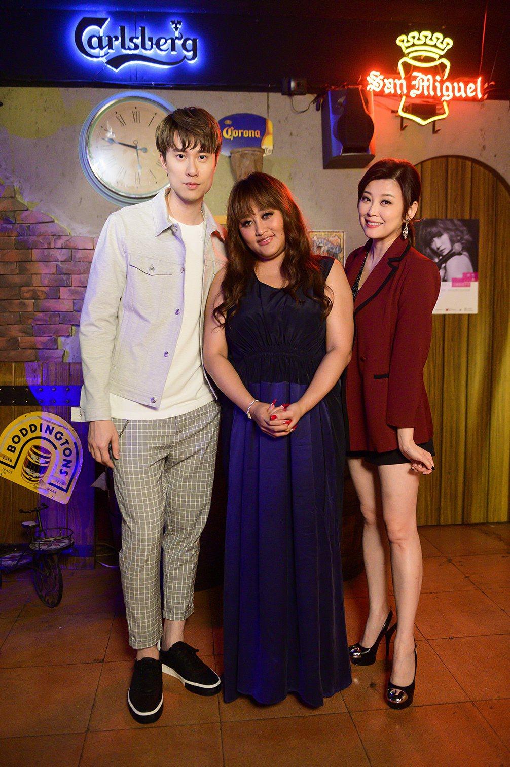 劉書宏(左起)、家家、方馨在「女力報到」中對戲。圖/TVBS提供