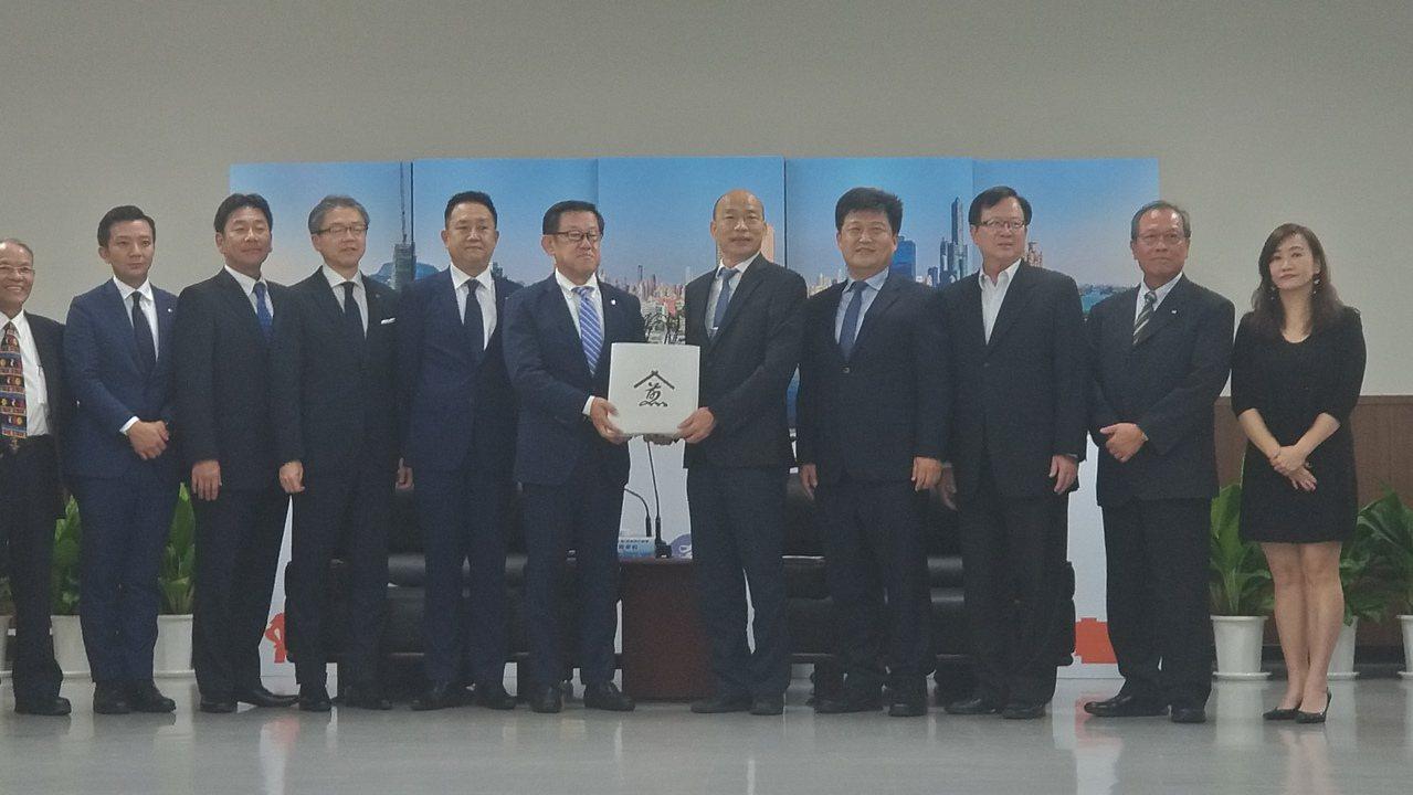 日商斥資60億投資高雄,今拜訪高雄市長韓國瑜。記者蔡孟妤/攝影