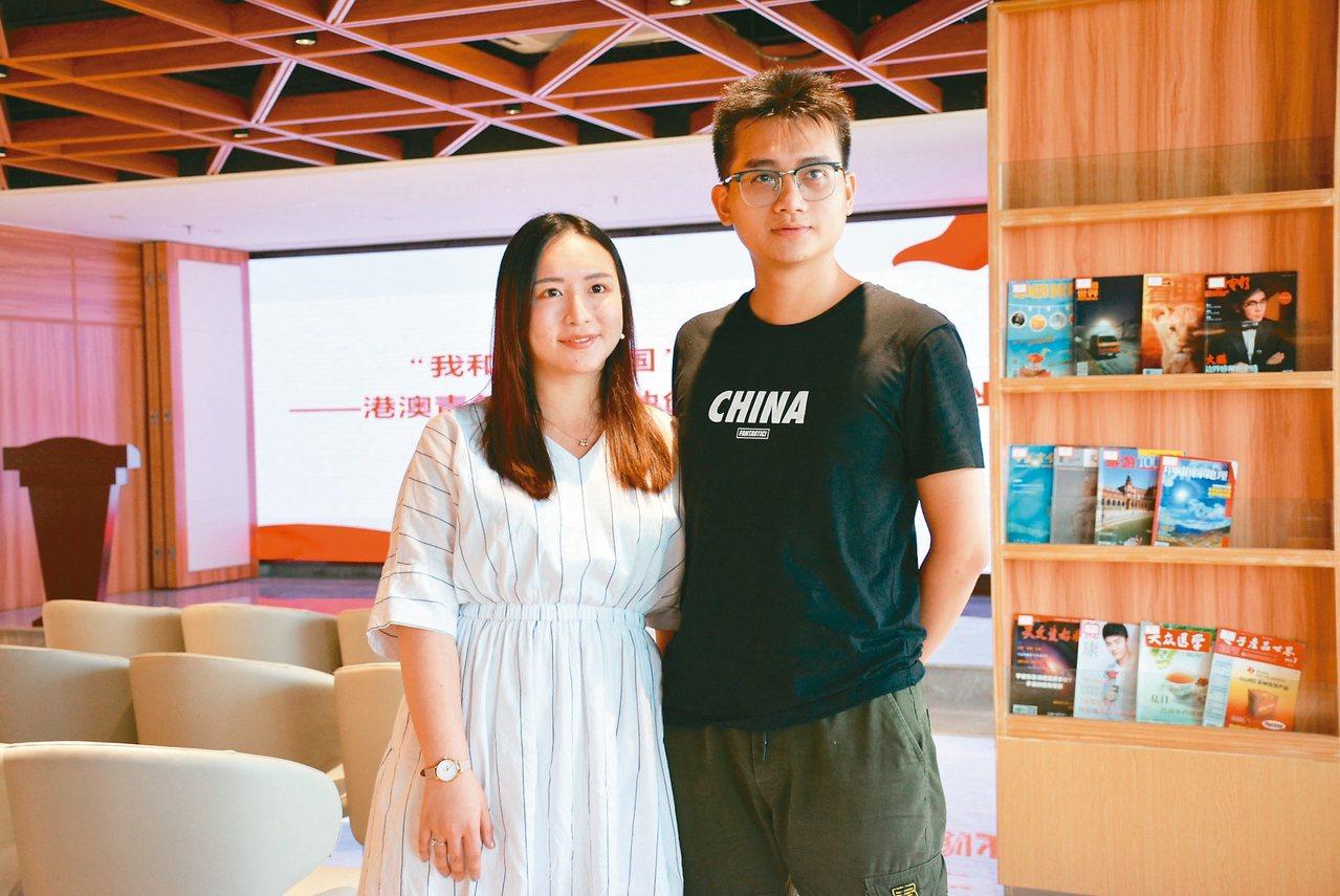 我們與我文化傳媒有限公司創辦人鐘志明、何靜雯(左)。 圖/本報東莞傳真