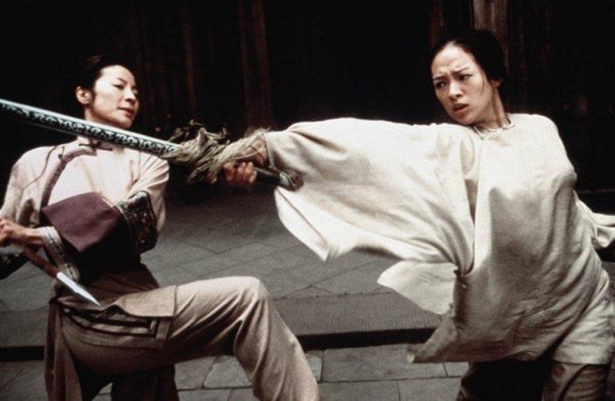 「臥虎藏龍」有如舞蹈般的動作場面,李安現在覺得不太符合真實的打鬥狀況。圖/摘自t...