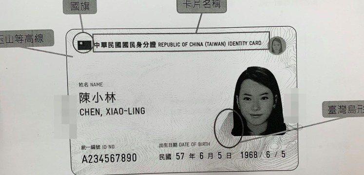 圖為數位身分證初稿。聯合報記者賴于榛/翻攝