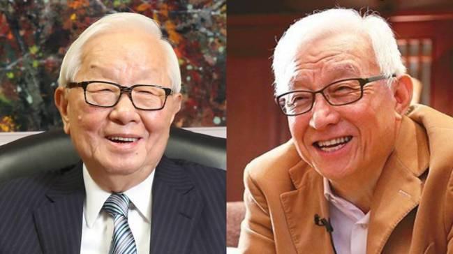 台積電創辦人張忠謀(左)與聯電榮譽董事長曹興誠(右)。 報系資料照