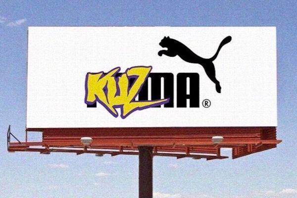 庫茲瑪剛與彪馬「合體」簽五年球鞋代言合約,賺進大把鈔票後,下一個目標就是向湖人招...