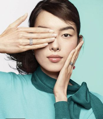 Tiffany拍攝手遮單眼的廣告照片,遭到中國消費者指控支持香港反送中運動。 取材自微博