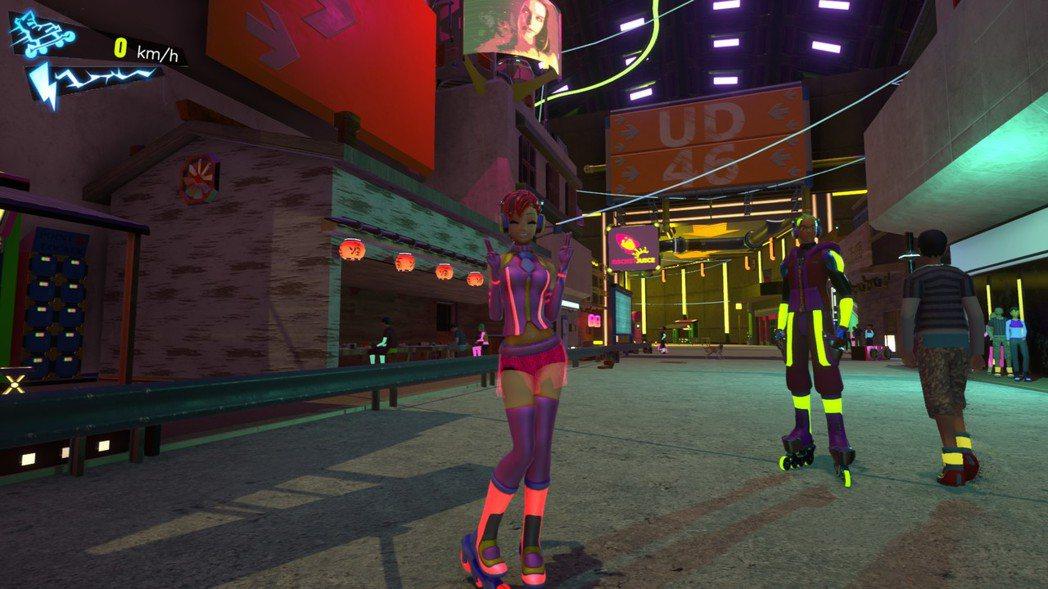 這城市的人們包括主角穿的服裝都會隨光影變色跟發光