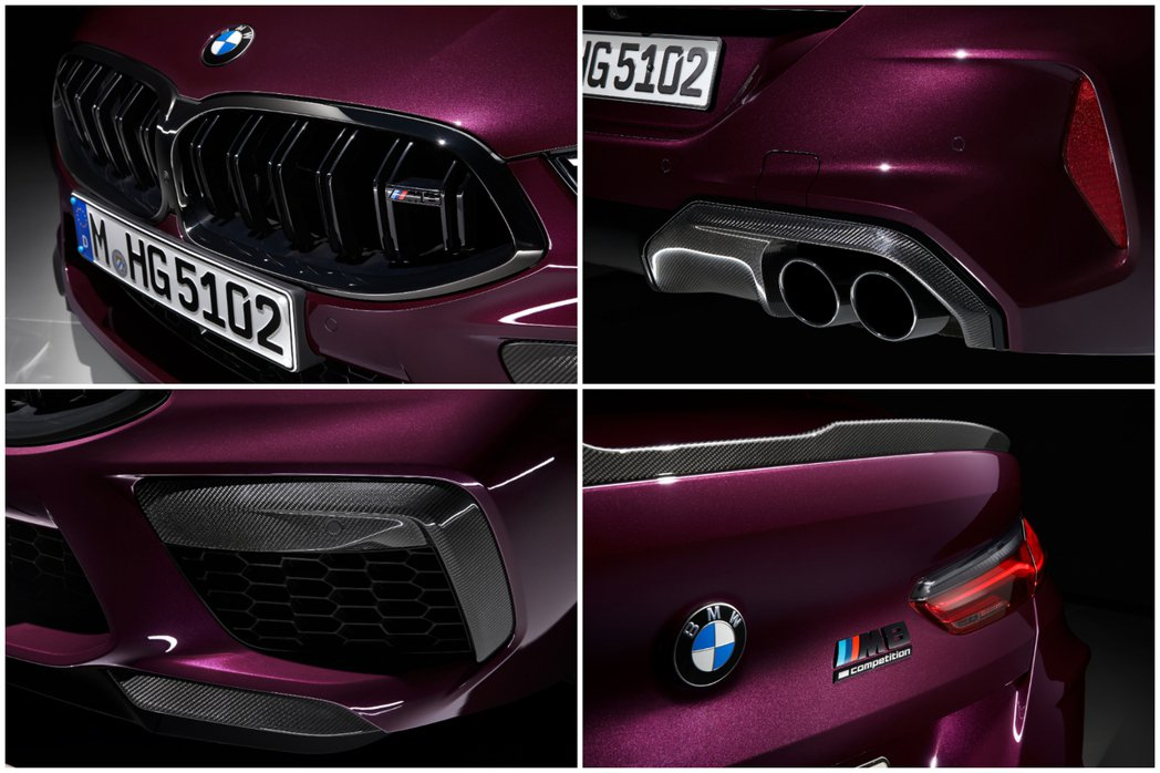 全新BMW M8 Gran Coupe (F93) 外觀特點。 摘自BMW