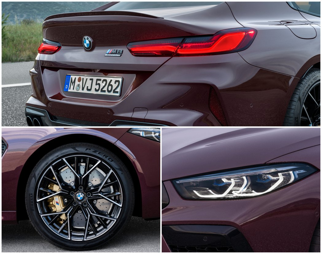 全新BMW M8 Gran Coupe (F93) 標配20吋M款鋁圈。 摘自B...
