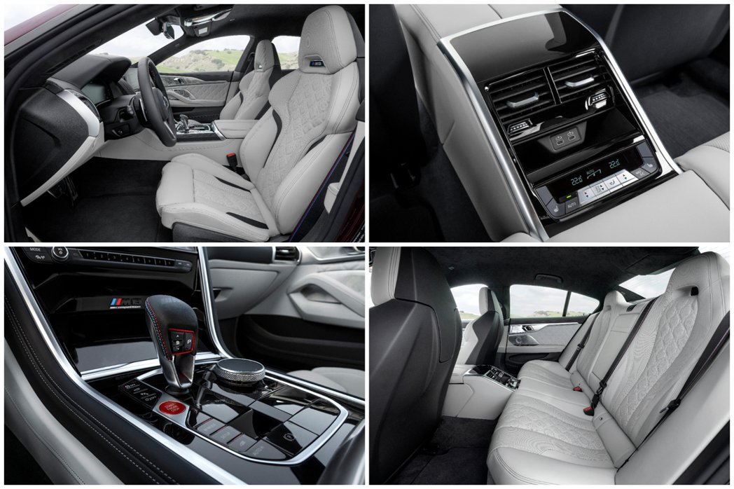 全新BMW M8 Gran Coupe (F93) 內裝特點。 摘自BMW