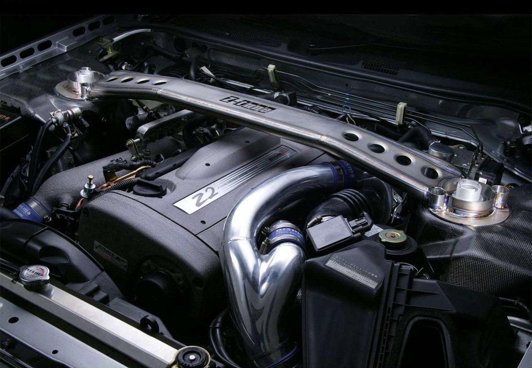 2.8升RB26DETT Z2引擎,有著500ps/55kgm的動力輸出。 摘自...