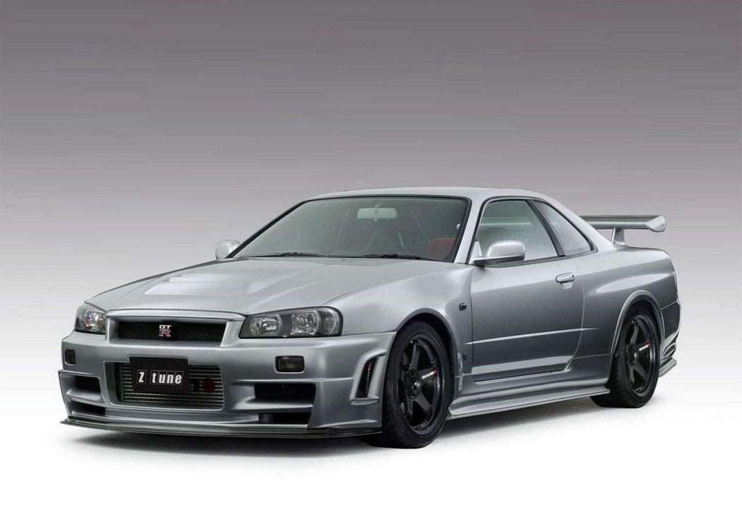 Nissan Skyline R34 GT-R Z-Tune只生產19輛。 摘自...