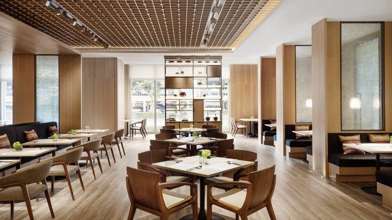 國泰萬怡1樓全日餐廳MJ Kitchen的用餐區。 業者/提供