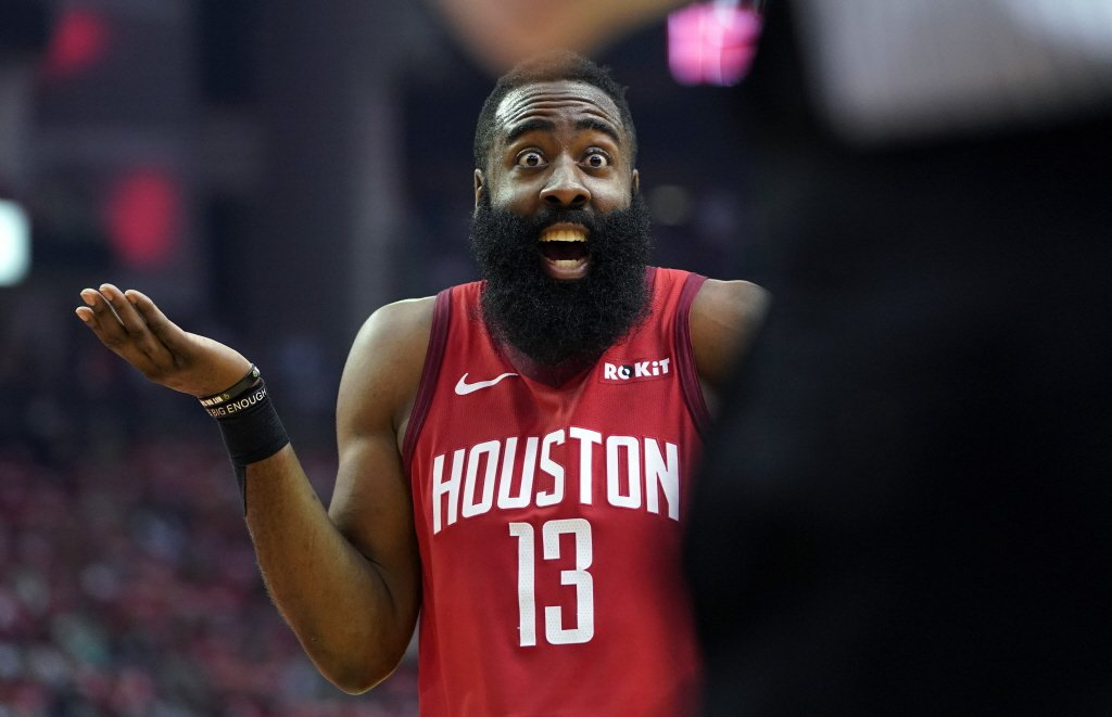 在火箭隊GM莫雷一則推特引起NBA與中國的滔天巨浪後,當家球星哈登則向中國球迷道歉,「我們道歉,我們愛中國(We love China)。」 圖/美聯社