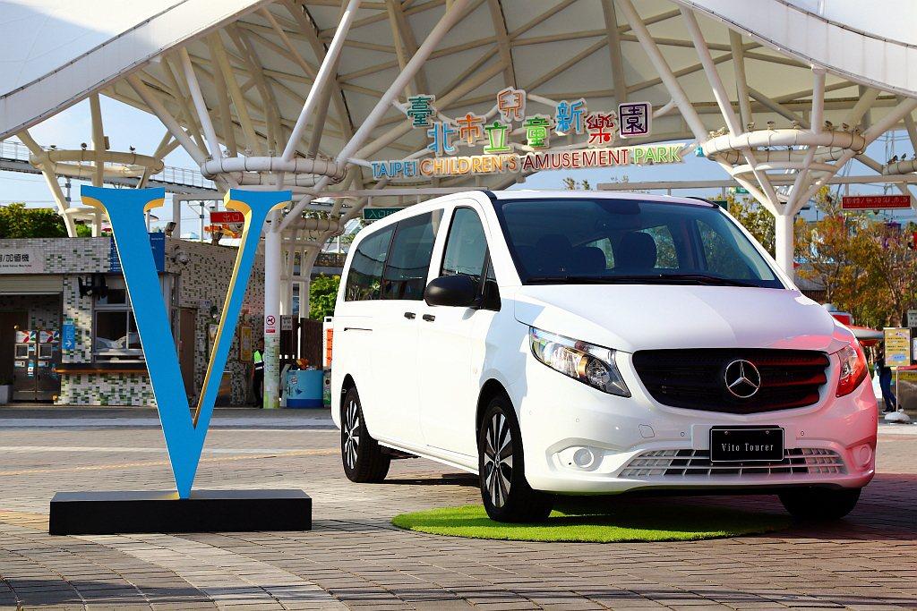 小改款賓士Vito Tourer商旅車首度在台亮相。 記者張振群/攝影
