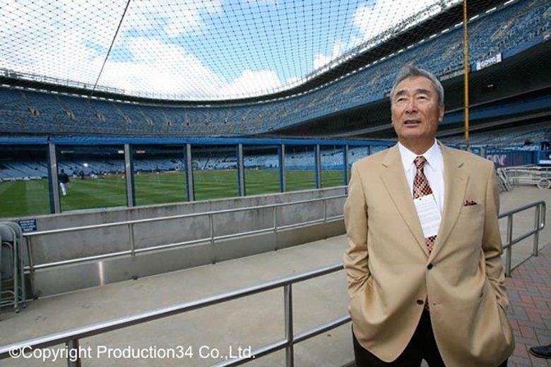 2007年,金田正一造訪洋基球場,昔日他曾與一代球星米奇・曼托在此交流。 圖/KANEDA KUKAKU