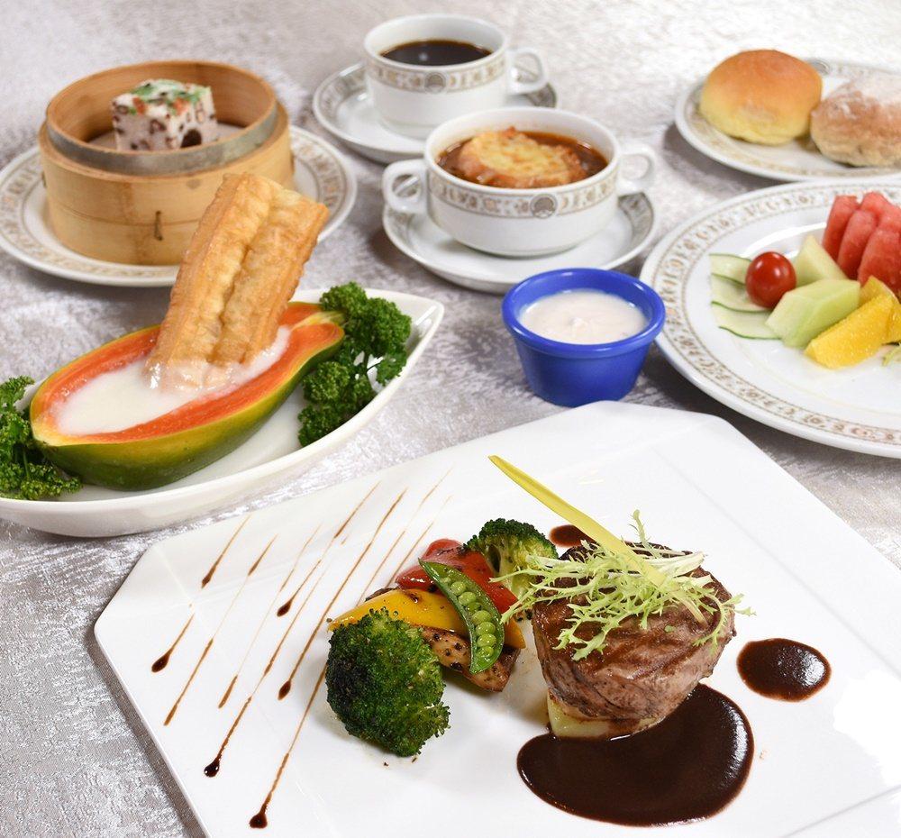 圓山大飯店花園咖啡廳「夫人餐」。 圖/圓山飯店提供