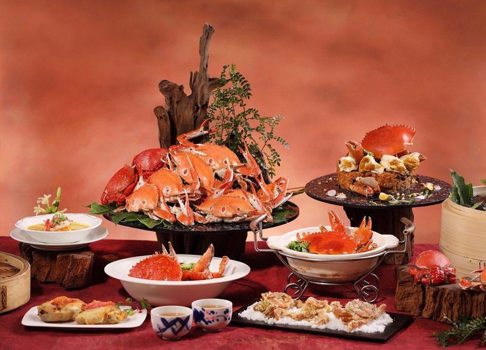 福華飯店旗下的美式自助餐廳花園大道推出蟹BAR料理。 圖/台北福華飯店提供