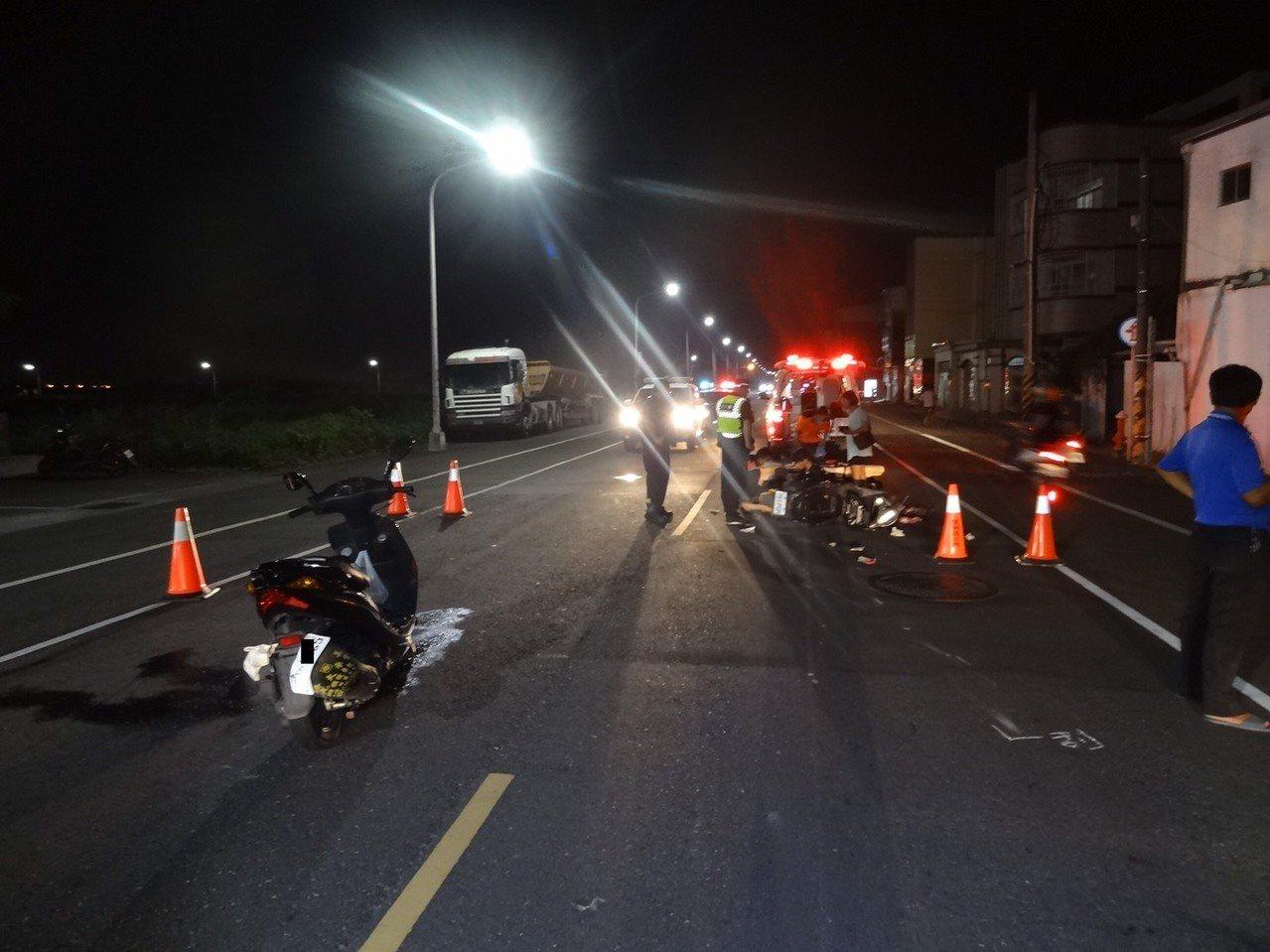 麻豆警分局公布9月份車禍案件統計。記者吳淑玲/翻攝