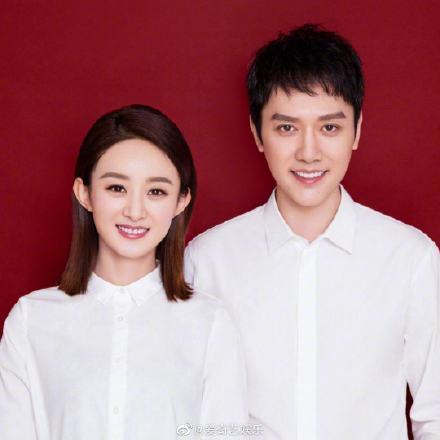 馮紹峰、趙麗穎去年10月領證結婚。圖/摘自微博