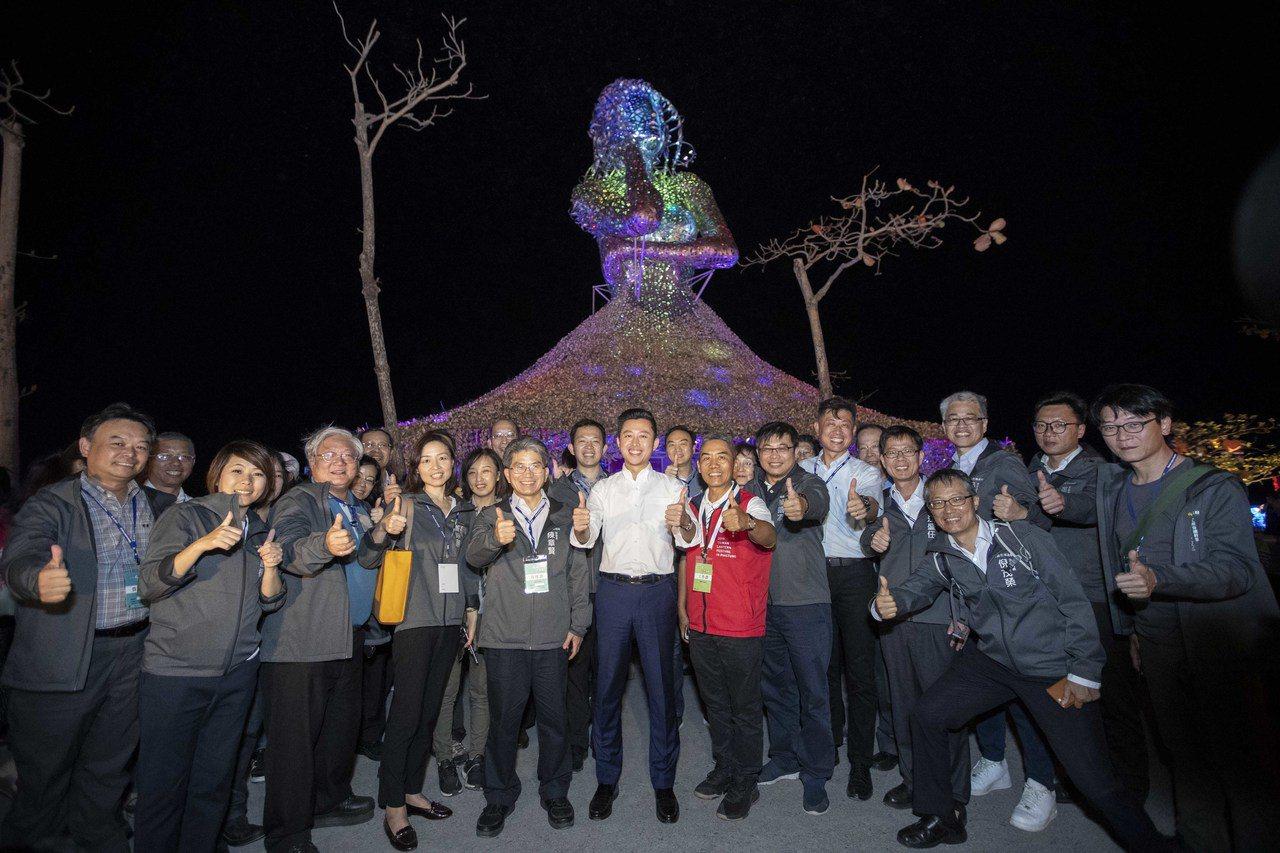 林智堅市長今年初率團參訪2019屏東燈會,為2021新竹燈會取經。圖/市府提供