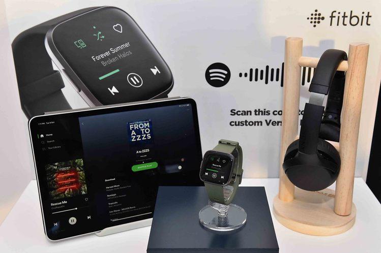 Fitbit Versa 2的Spotify應用程式讓用戶邊移動邊控制播放,並能...