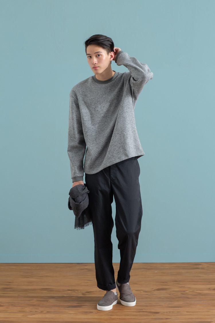 MUJI無印良品「服飾造型顧問SA」推薦的秋日基本色男性穿搭。圖/無印良品提供