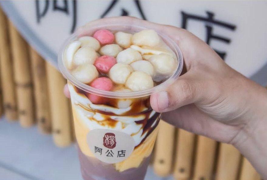 三色布丁豆花加湯圓是懷舊美味。IG @leuj0217 提供