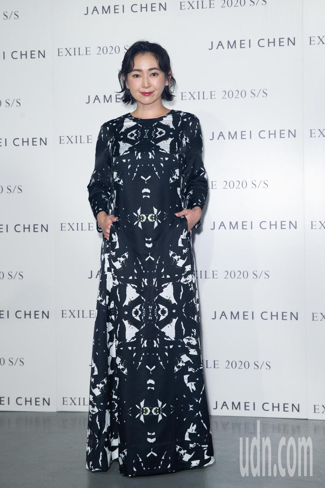蔡燦得出席陳季敏Jamei Chen服裝秀。記者季相儒/攝影
