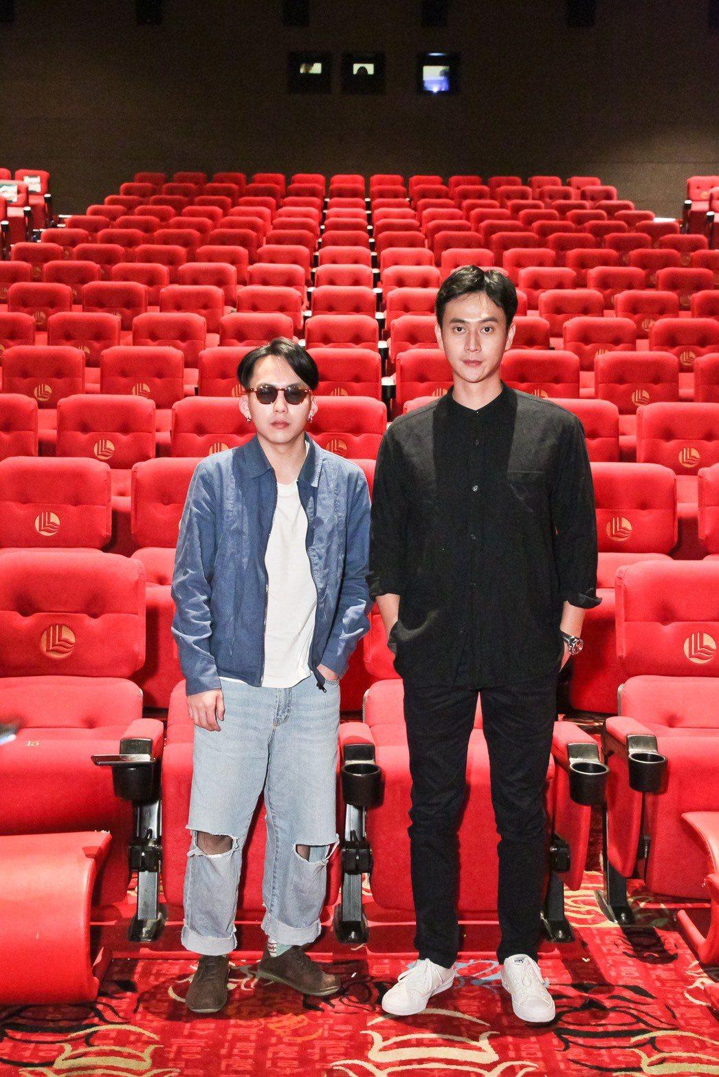 金馬準影帝巫建和(左)、金馬準男配劉冠廷攜手前進釜山影展。圖/甲上提供