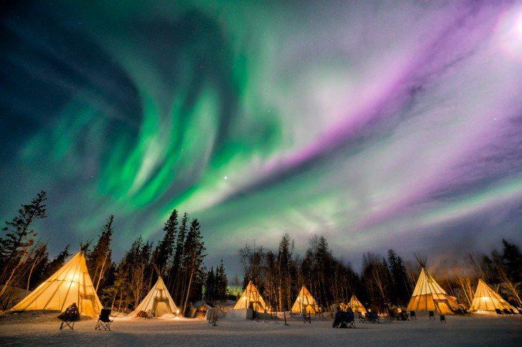 黃刀鎮極光為加拿大航空的熱門旅遊景點。圖/加拿大航空提供
