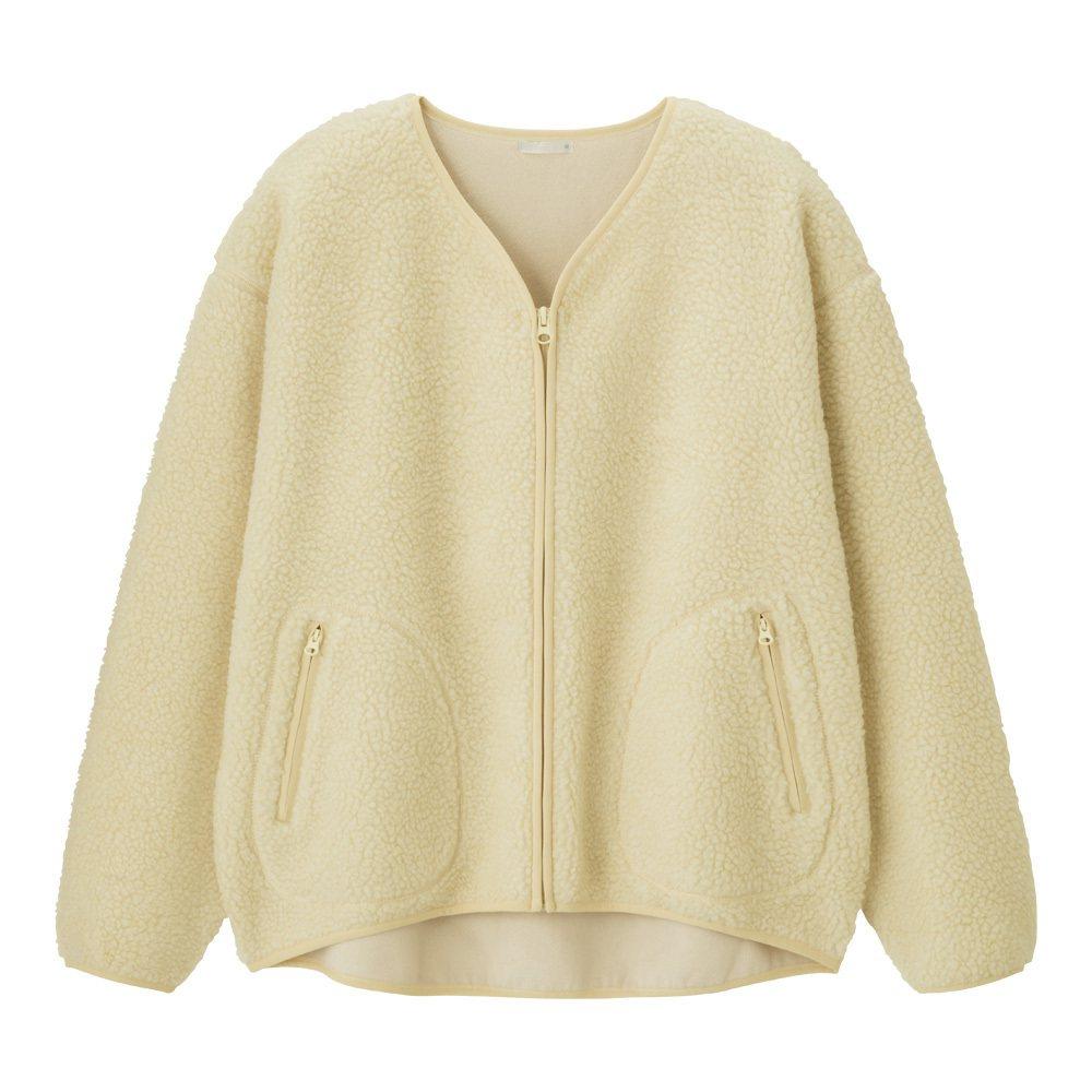 女裝刷毛外套(長袖),期間限定價590元。圖/GU提供
