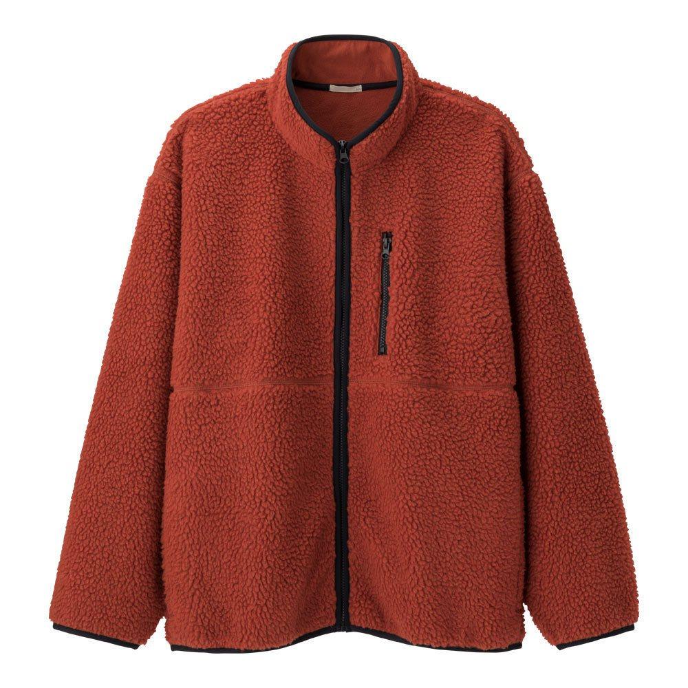 男裝刷毛外套(長袖),期間限定價590元。圖/GU提供