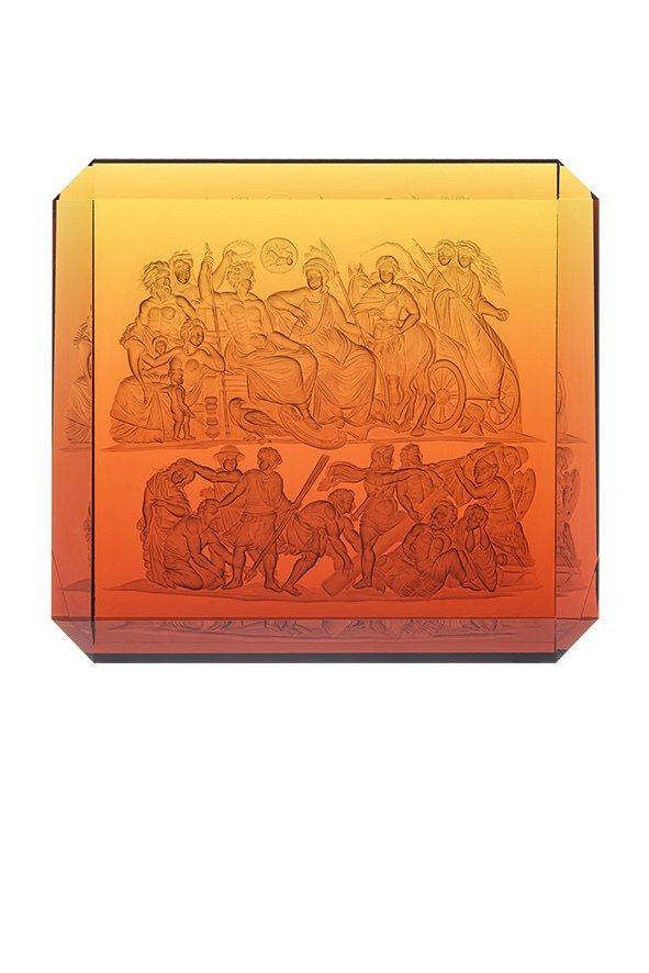 摩瑟水晶水晶世界系列奧古斯都,高度24公分,限量5件。圖/國裕企業提供
