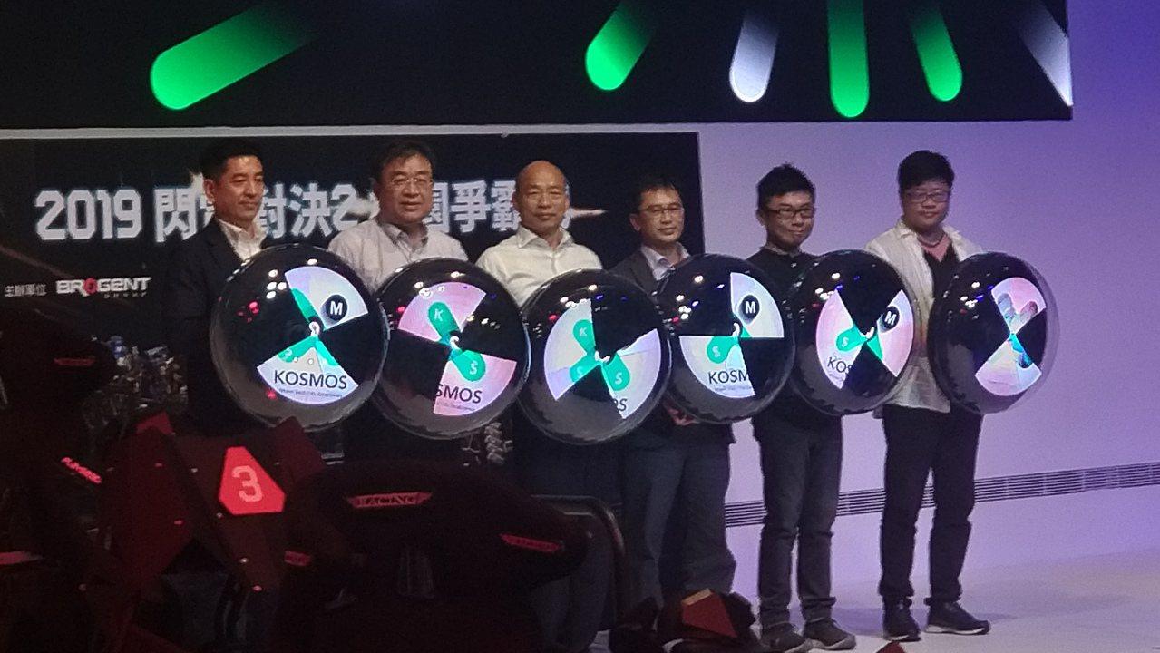 高雄市長韓國瑜今出席體感科技嘉年華活動。記者蔡孟妤/攝影