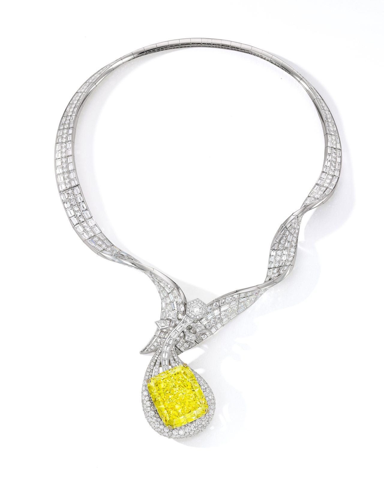 ANNA HU絲路音樂系列敦煌琵琶黃鑽項鍊,成交價約4,534萬8,000港幣。...