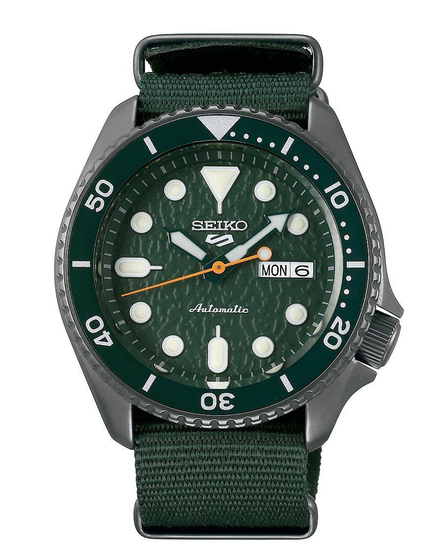 SEIKO Seiko 5 Sports系列SRPD77K1腕表,不鏽鋼表殼,搭...