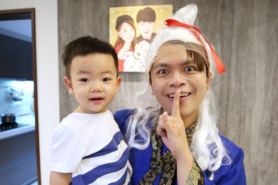 蔡阿嘎的兒子蔡桃貴人氣很高。圖/摘自臉書