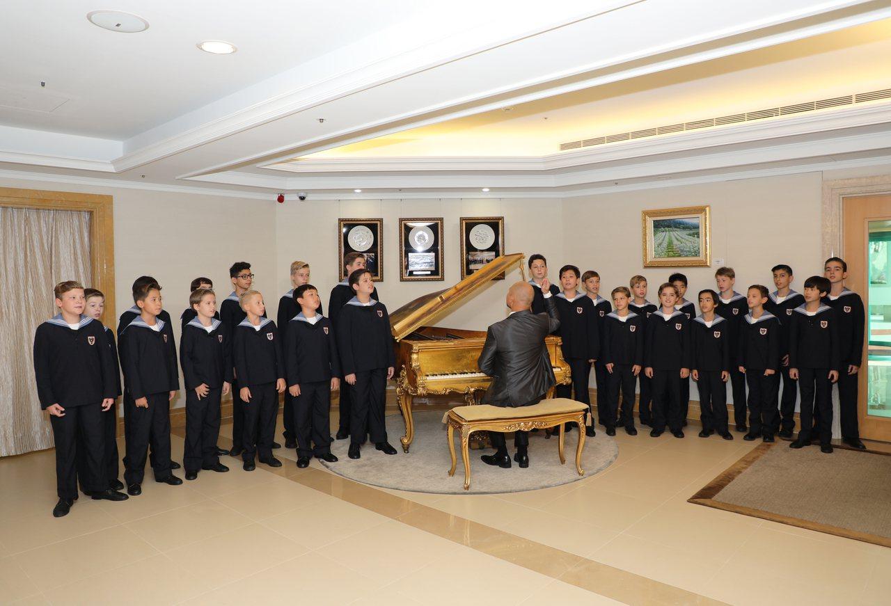 「世界最美的聲音」維也納少年合唱團抵台展開巡演。圖/傳大藝術提供