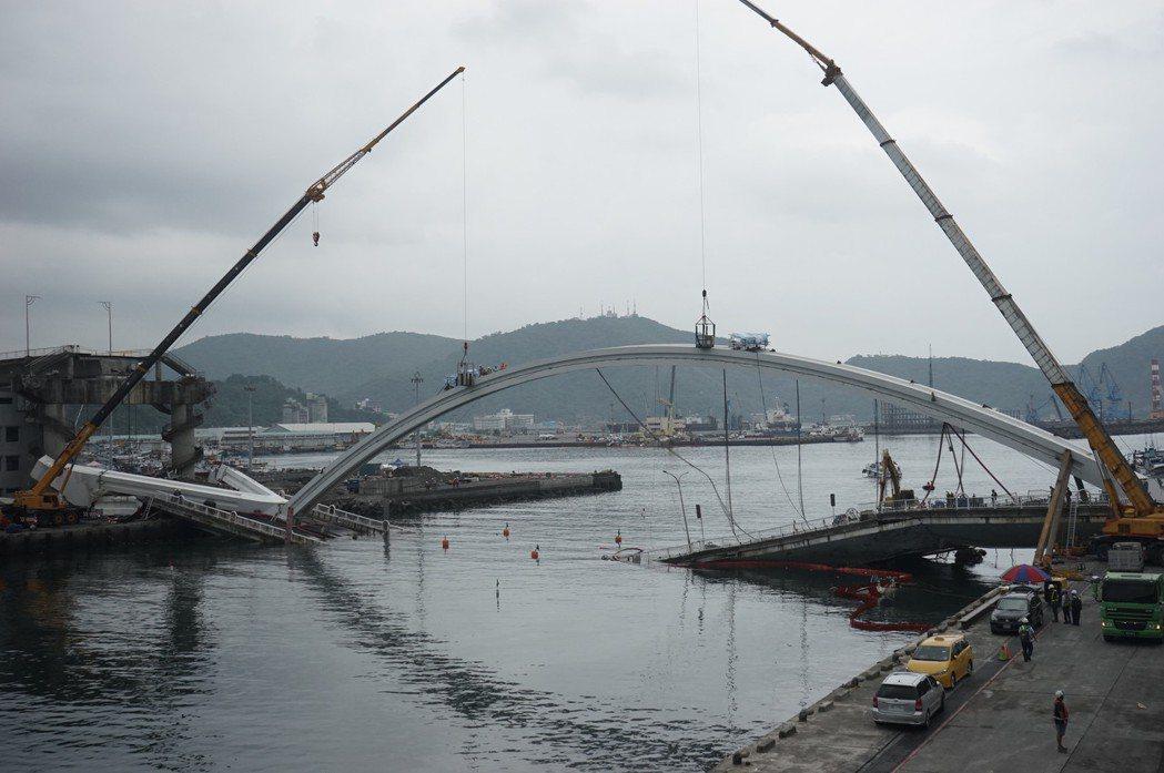 宜蘭南方澳大橋斷裂,為保全證據且考量漁船出入,要以最小破壞,在最快時間內拆完,對...