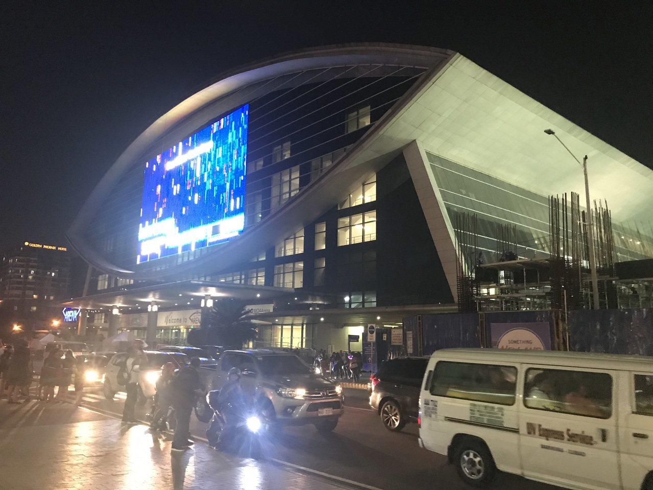 馬尼拉亞洲購物中心體育館。 記者毛琬婷/攝影