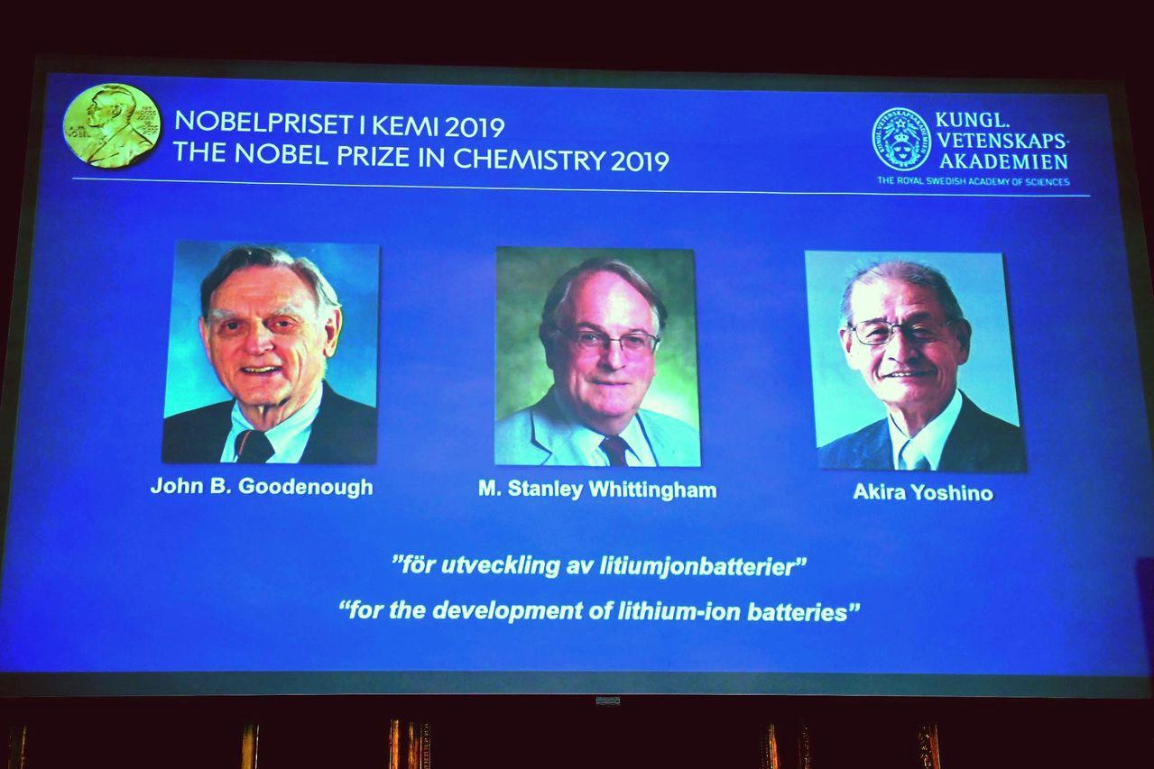 三位科學家對鋰電池發展的卓越貢獻,共獲諾貝爾化學獎殊榮,因為鋰電池是驅動手機及電...