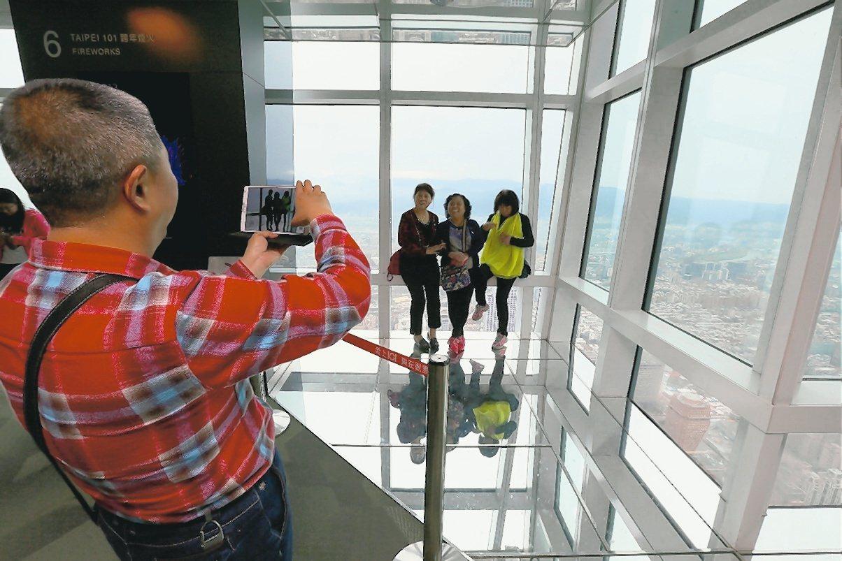 台北101觀景台。記者許正宏