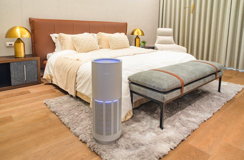 「LEAF 320i空氣清淨機」能10鐘快速降低臥室、客廳 PM 2.5。cad...