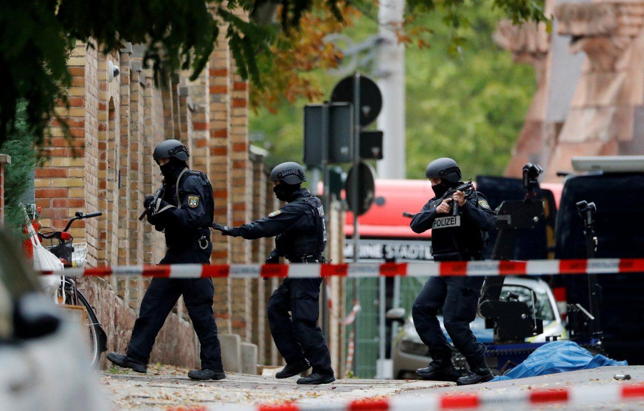 德國東部城市哈雷槍擊案,造成2人喪命。 路透社
