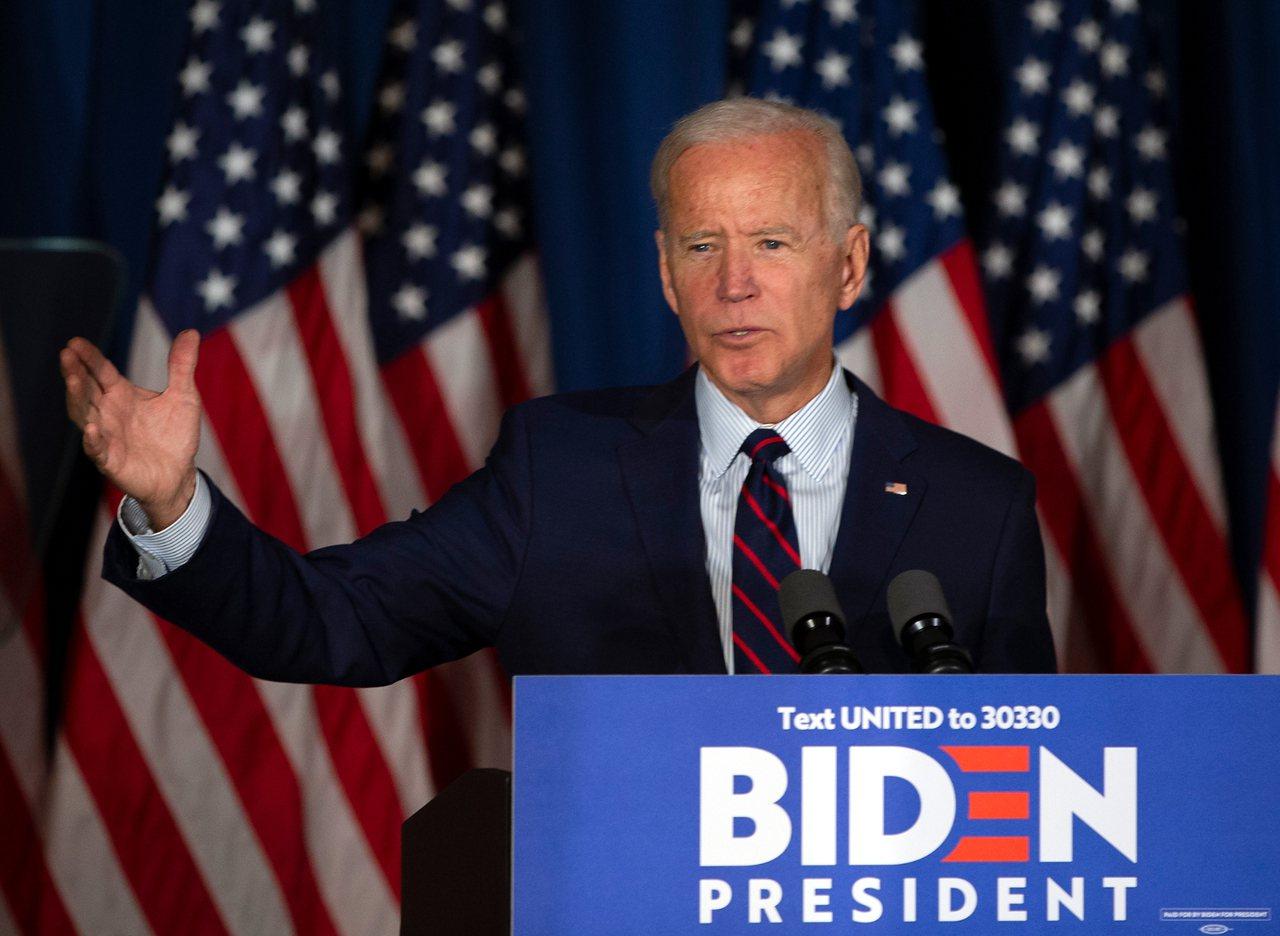 美國民主黨總統初選參選人白登。 歐新社