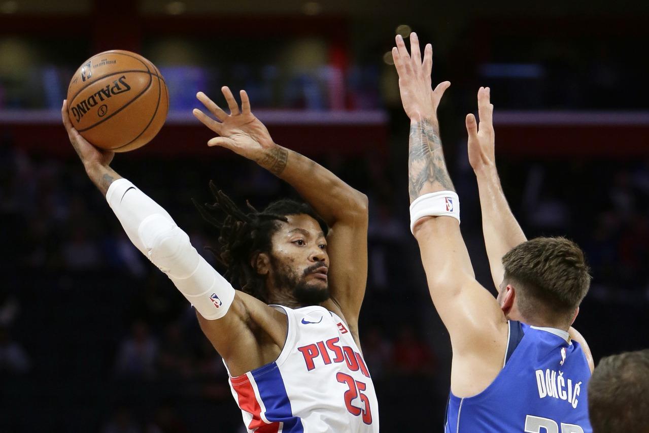 NBA/獨行俠歐陸連線登場 羅斯領軍替補率活塞逆轉勝