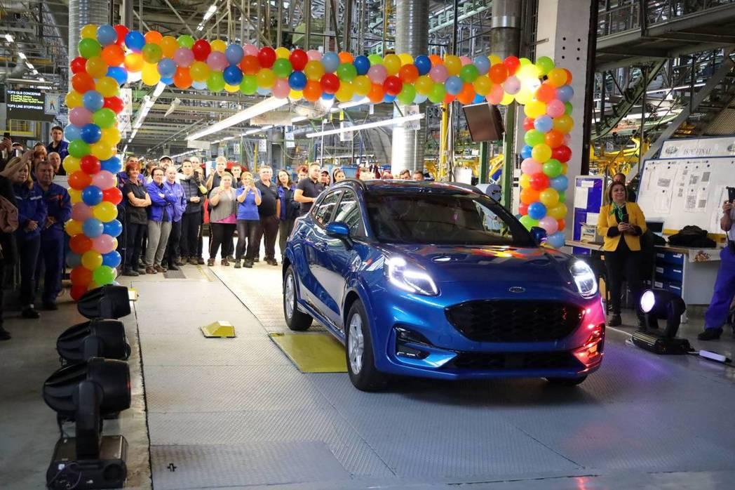 首批量產Ford Puma於8日當天正式下線。 摘自Ford