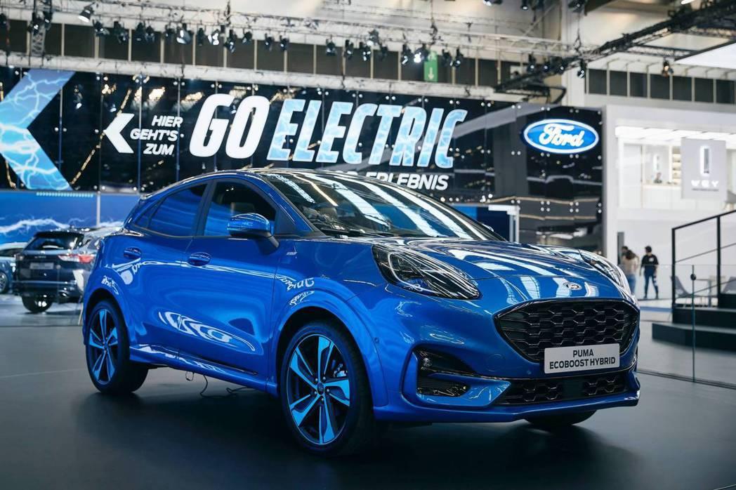 全新Ford Puma使用結合48V Mild-Hybrid輕油電混合動力系統的...