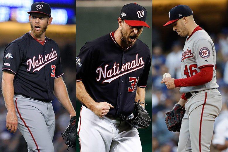 國民先發投手中有天才小史(左)、薛則(中)、柯賓(右)三位頂級好手,紅雀只有弗列...